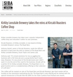 screenshot of Kirkby Lonsdale and Kircabi Roasters PR article