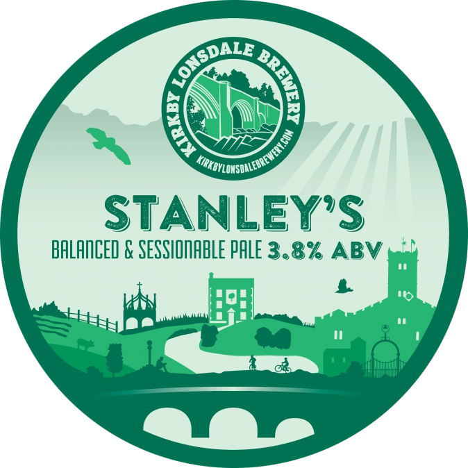 Kirkby Lonsdale Brewery Stanley's Pale Ale Pump Clip