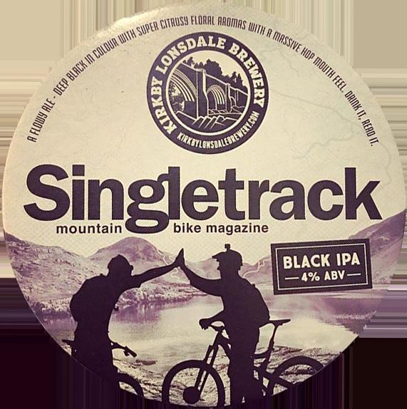 Kirkby Lonsdale Brewery Singletrack Black IPA Pump Clip