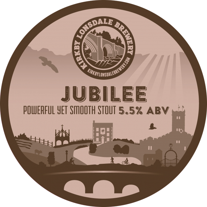 Kirkby Lonsdale Brewery Jubilee Stout Pump Clip