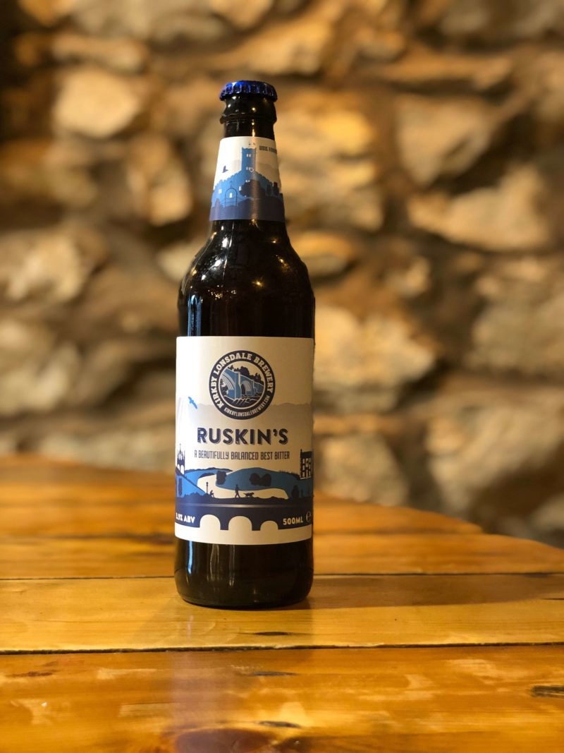 Bottle of Ruskin's from Kirkby Lonsdale Brewery